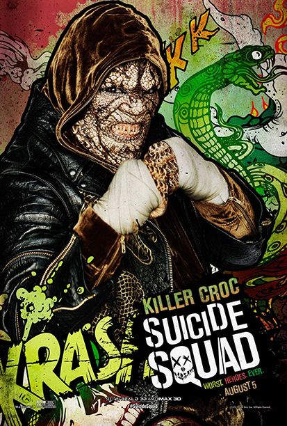 'Suicide Squad': See 11 Wild New Character Posters   Adewale Akinnuoye-Agbaje as Killer Croc   EW.com
