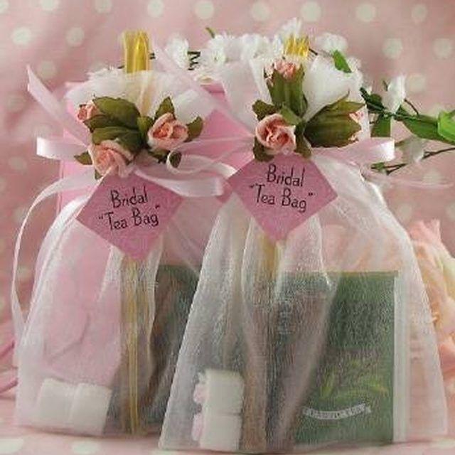 How to Make Tea Bag Favors in 2019  Bridal shower favors