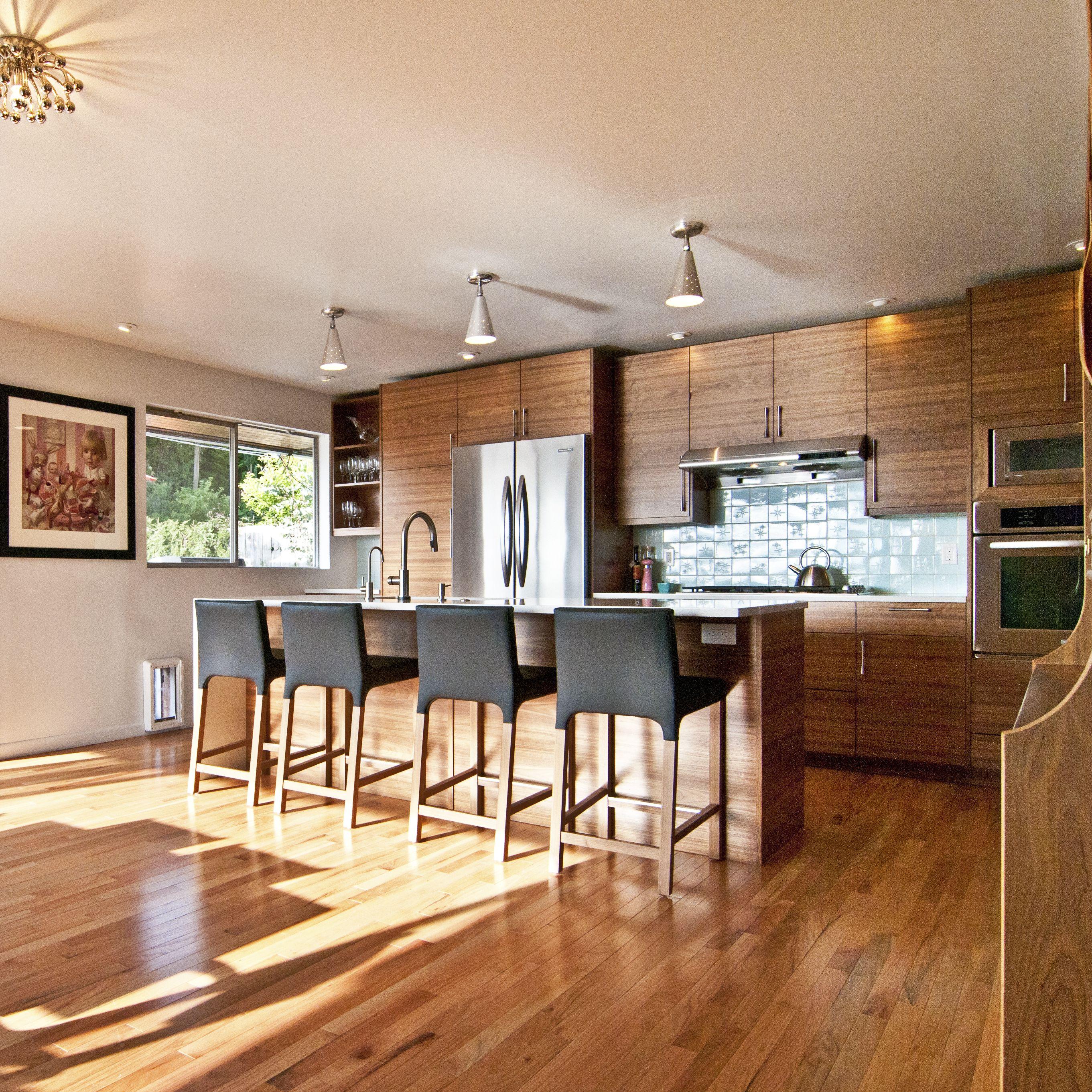 IKEA® Kitchen with Semihandmade Flatsawn Walnut fronts