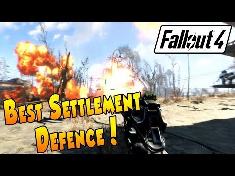 Fallout 4 Best Settlement Defence Youtube Fallout Fallout 4 Tips Defence