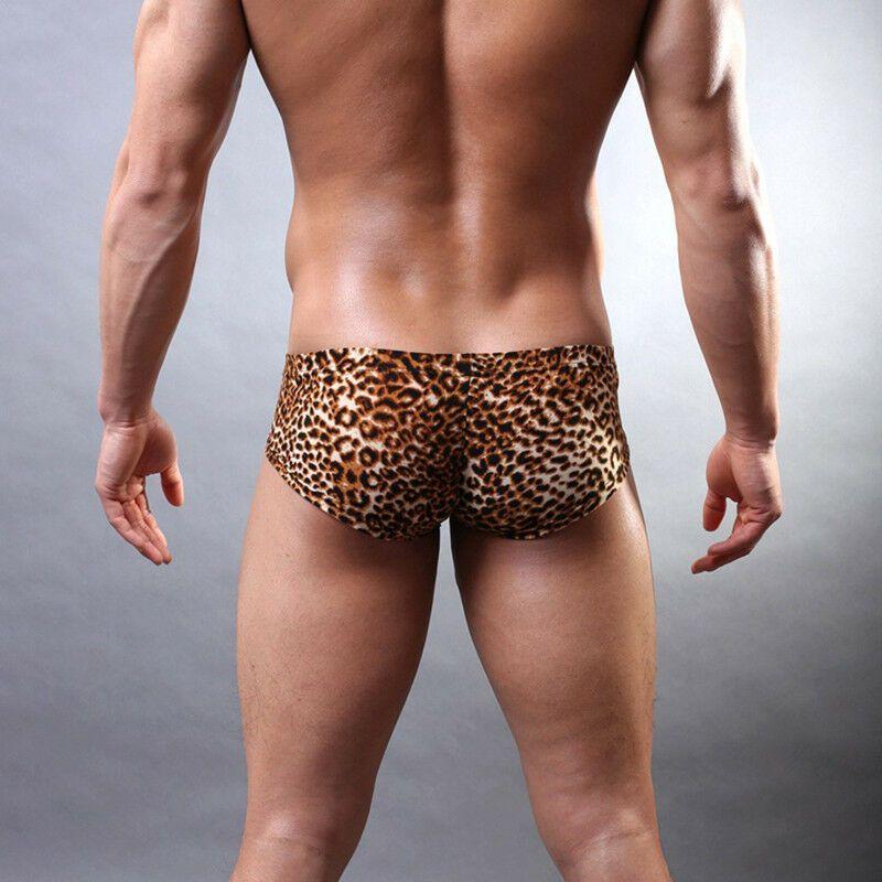 7394d04df917 Men's Underwear U Convex Boxers Briefs Leopard Grain Low-rise Sexy  Lingerie#Convex#Boxers#Underwear