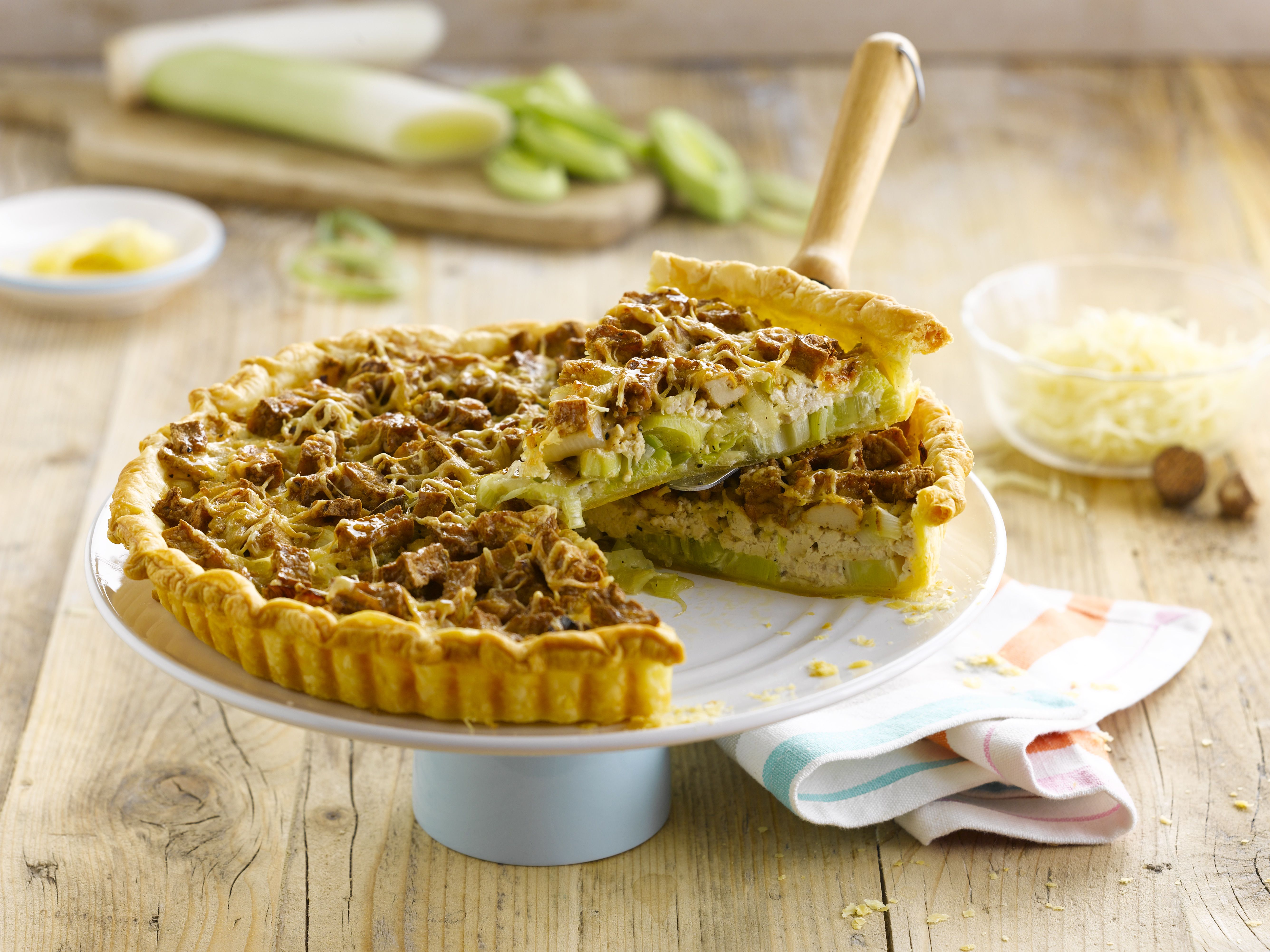 Quiche with Leek & Tofu Recipe