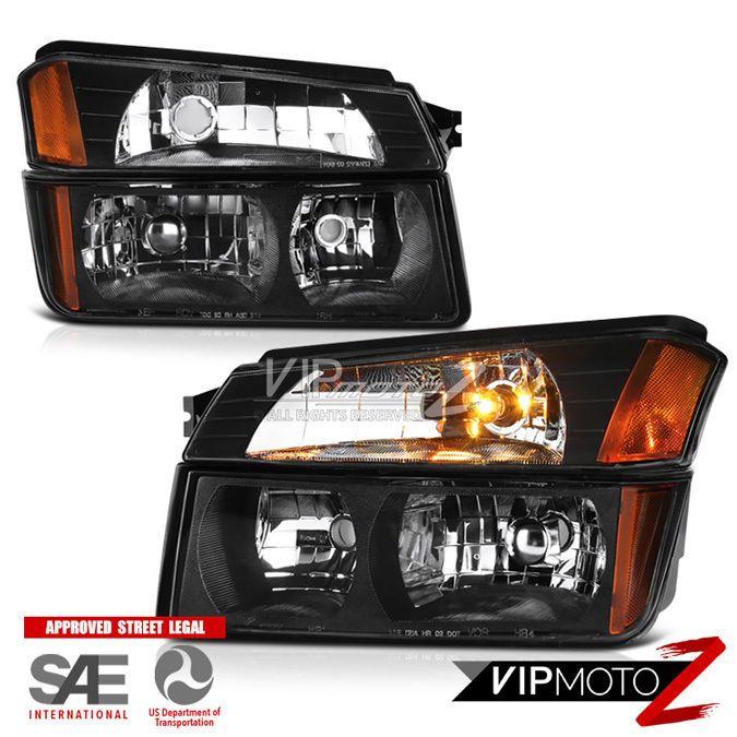 2002-2006 chevy avalanche 1500 2500 [body cladding model] headlights bumper  lamp #vipmotoz