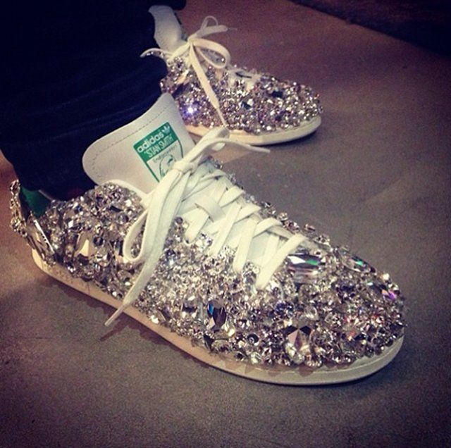 Pharrell Williams Adidas Swarovski Crystal Sneakers | shoe