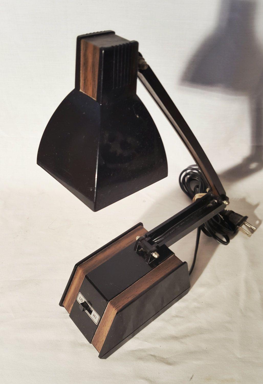 Vintage Underwriters Laboratories Portable Brass Desk