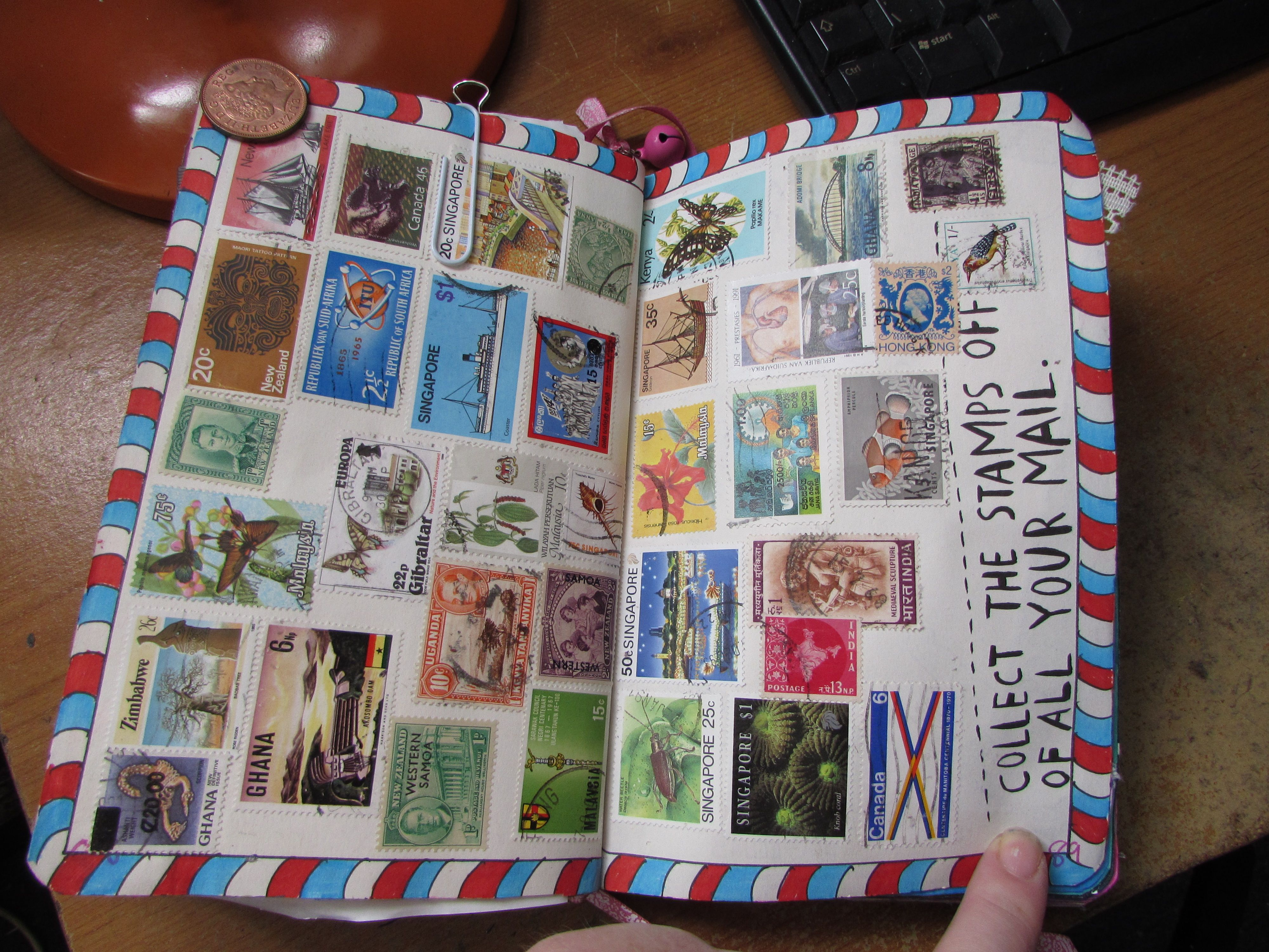 wreck this journal collect stamps | Collect The Stamps Off Of All