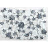 Found it at AllModern - Lucente Random Sized Glass Pebble Tile in Gray/White