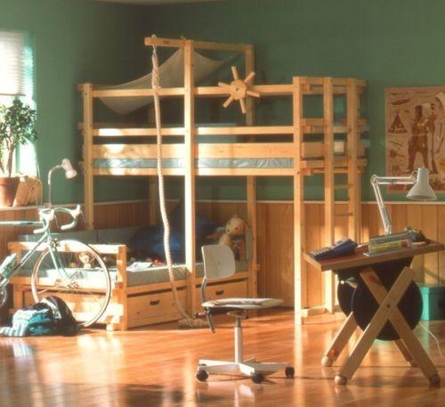 bauplaene fuer abenteuerbett hochbett kinderbett spielturm piratenbett gullibo etc diy holz. Black Bedroom Furniture Sets. Home Design Ideas