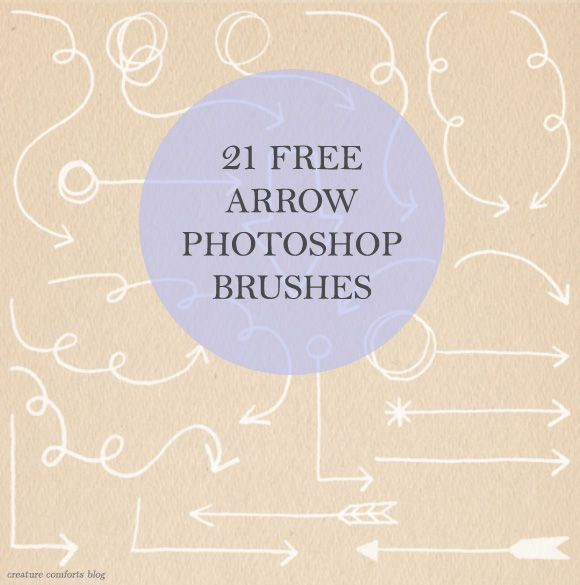 Free Download: Arrow PhotoshopBrushes - Home - Creature Comforts - daily inspiration, style, diy projects + freebies