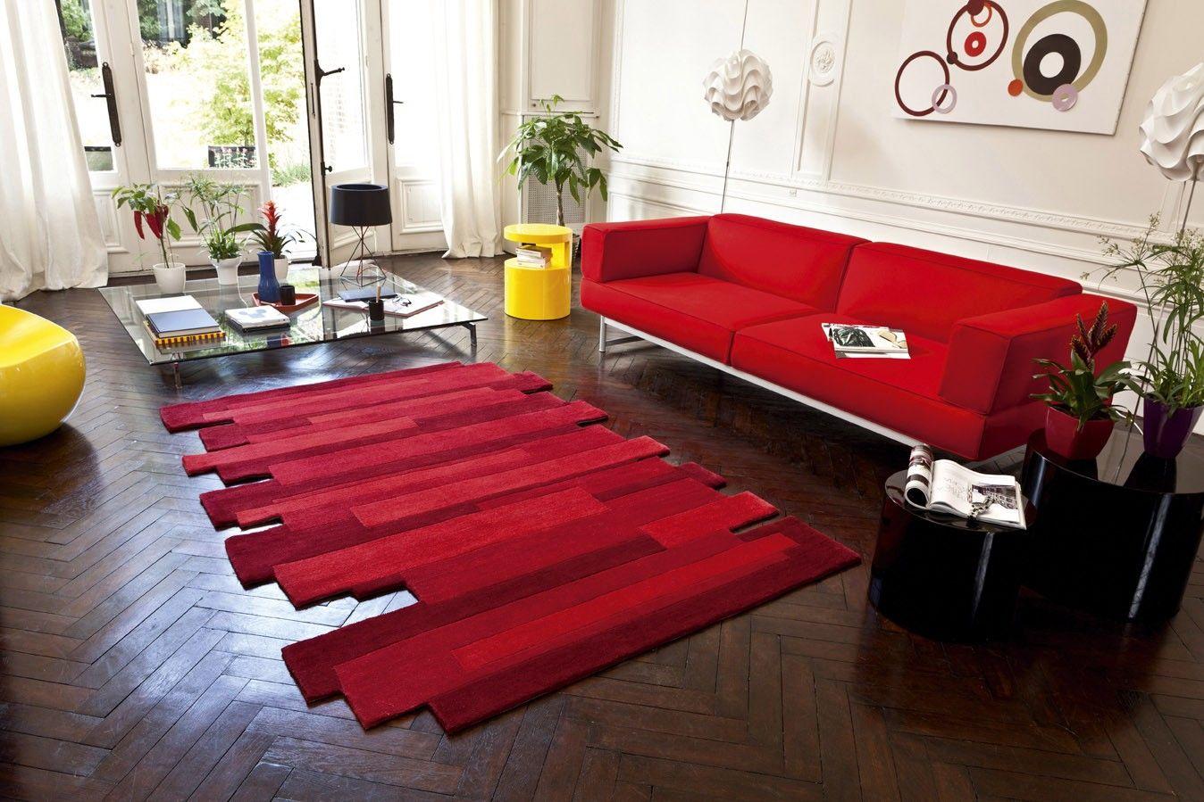 Tapis Decoupe Rouge Jump Saint Maclou Deco Pinterest Alfombras