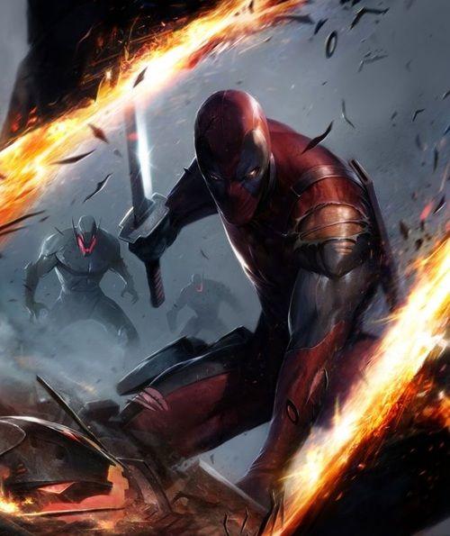 Deadpool vs Ultron by Francesco Mattina