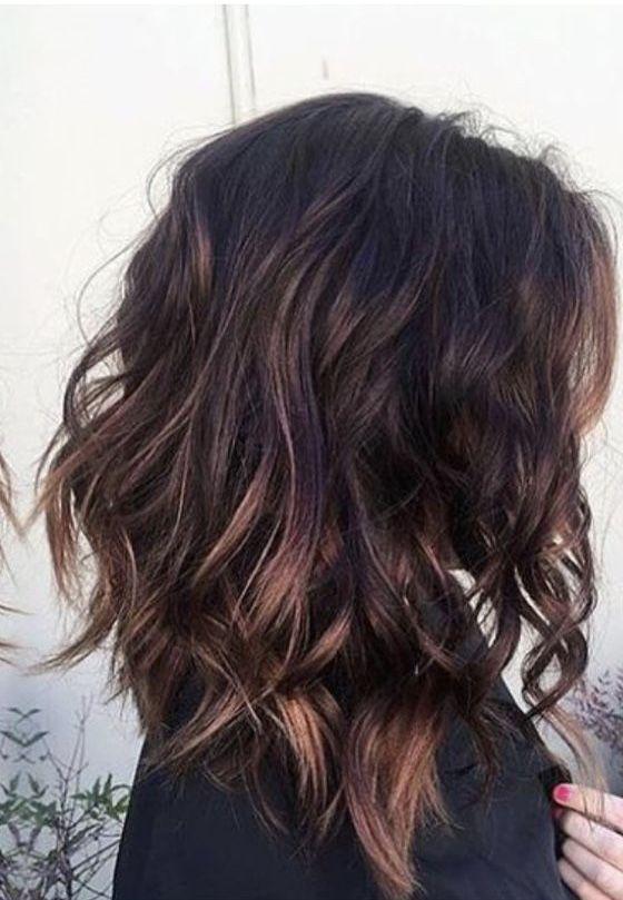 süß geschnitten und tolle farbe | brünette haarfarbe