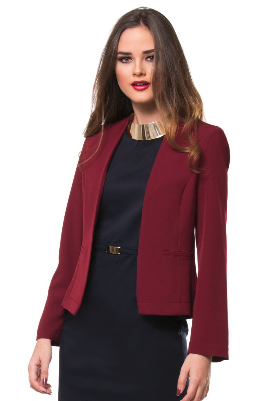 oferta especial super popular original de costura caliente Blazer Expressions vino | mirian en 2019 | Vestidos, Ropa de ...
