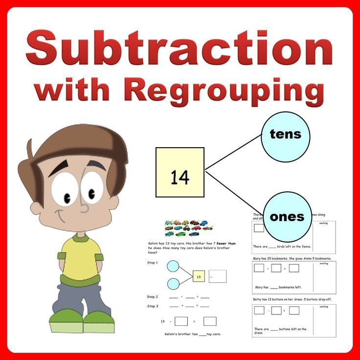 Subtraction Story Word Problems using Number Bonds Grade K-2 | Word ...