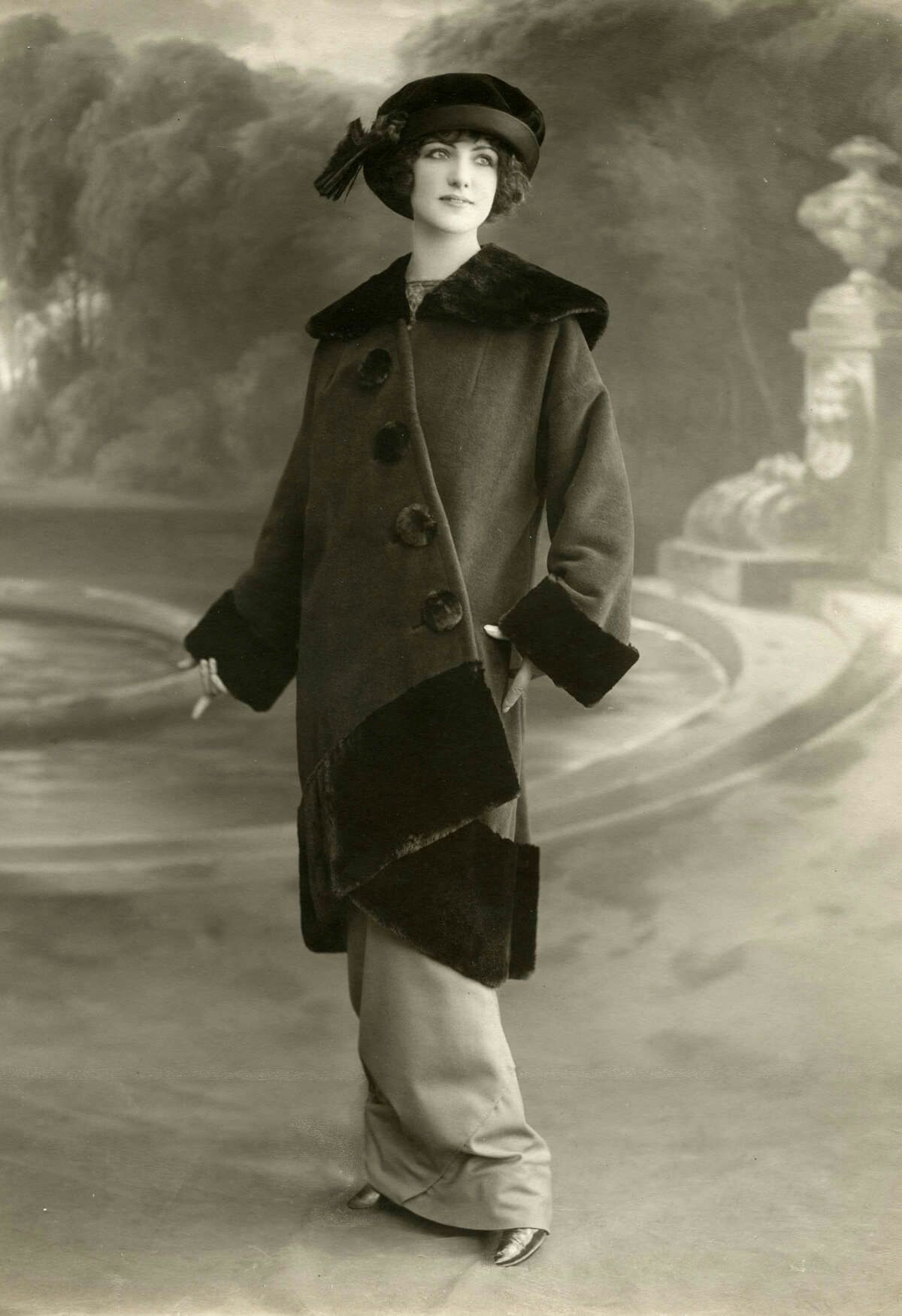 A fashionable coat from years ago vintage fashion in