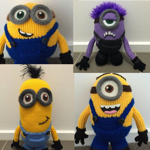 All Four Minion Knitting Patterns Pdf Minions Diy Pinterest