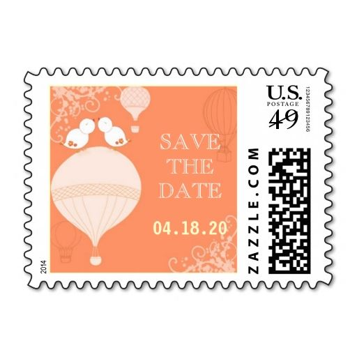 We are Getting Hitched! Spring Birds Save the Date Postage Stamps