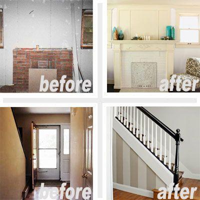 Inspiring Home Spruce Ups On A Shoestring Budget Old Home Renovation Home Home Remodeling