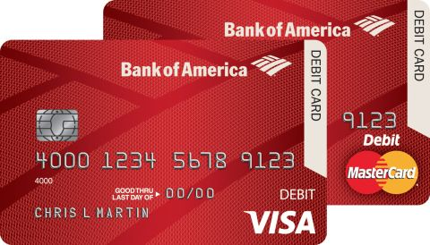 Debit Card With Images Bank Of America Credit Card Online
