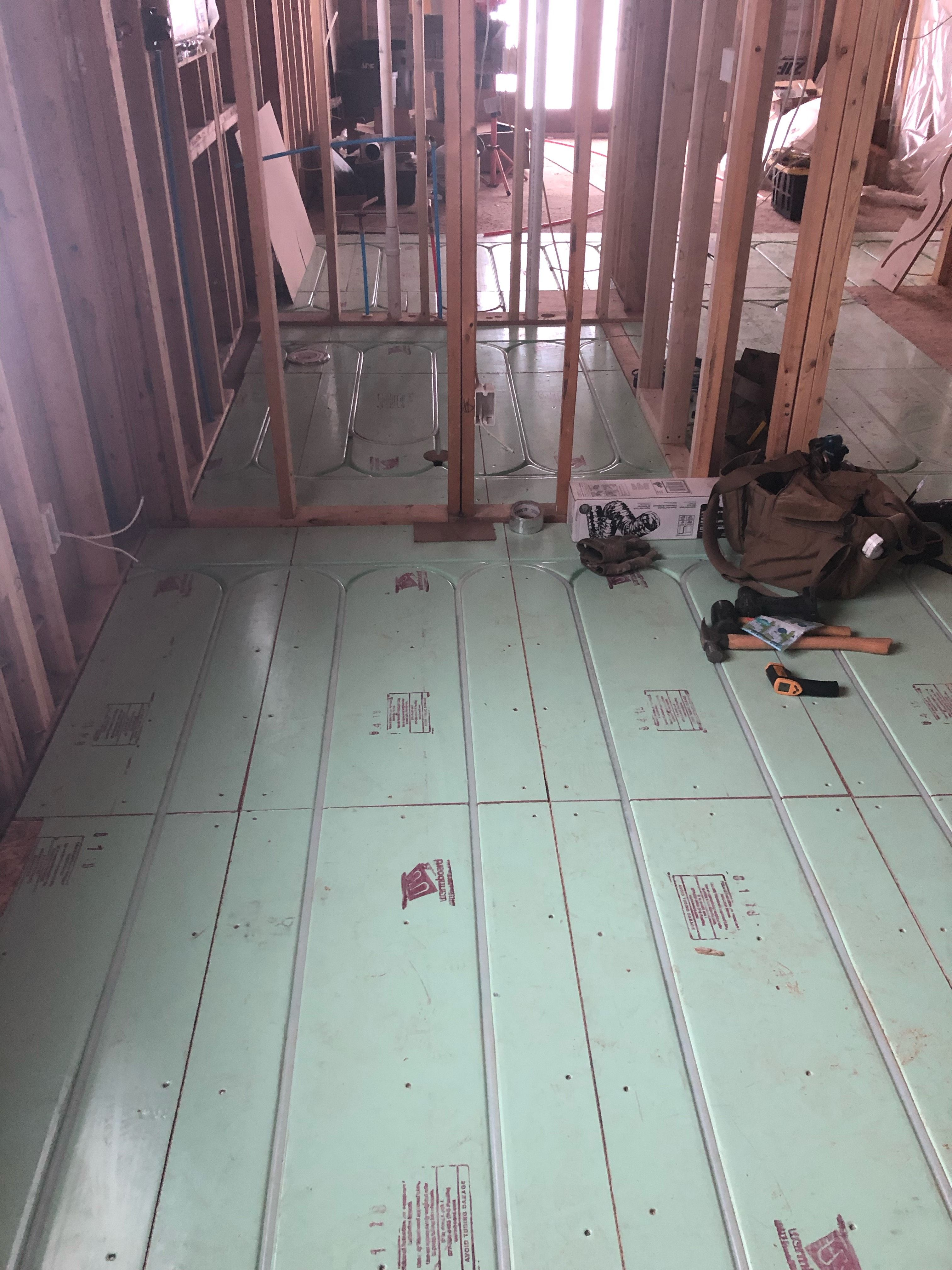 This Custom Home Located In Colorado Is Being Built With Warmboard Radiant Floor Heating We Can T Wait To Hea In 2020 Radiant Floor Heating Radiant Floor Custom Homes