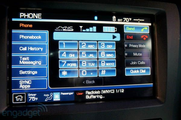 Ford Says Sync Is Now In 4 Million Vehicles Takes A Moment To Talk Up Focus Electric Ford Sync Sync Infotainment System