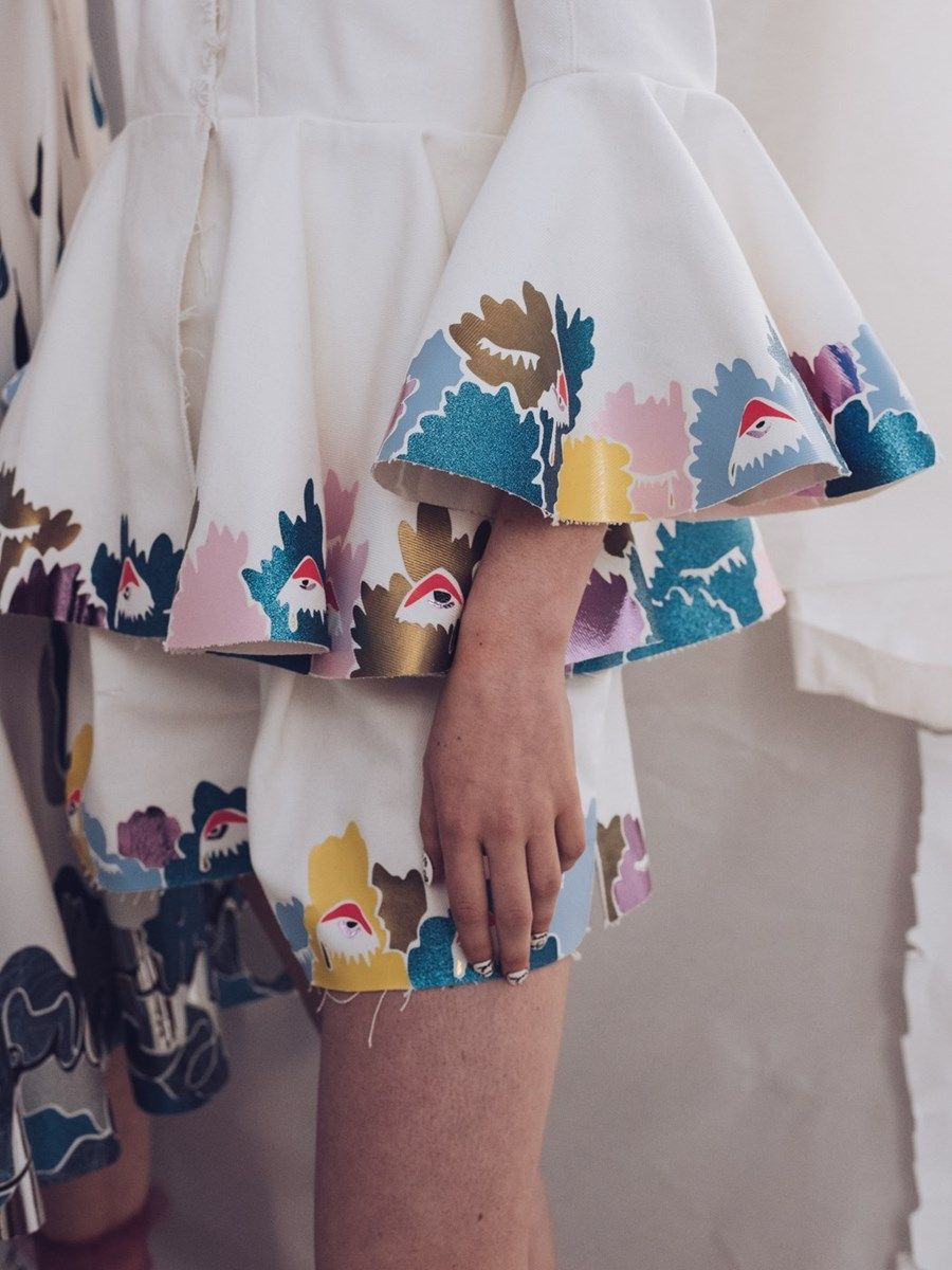 Mary Benson Ss16 Backstage Print And Floral Dress Clothe