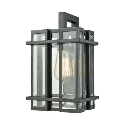 Elk lighting 45314 1 glass tower 12 one light outdoor wall sconce