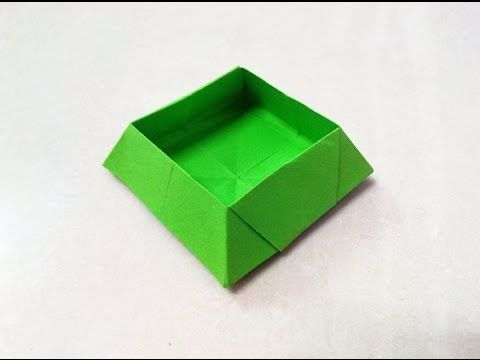 How To Make An Origami Paper Box 2 Origami Paper Folding Craft