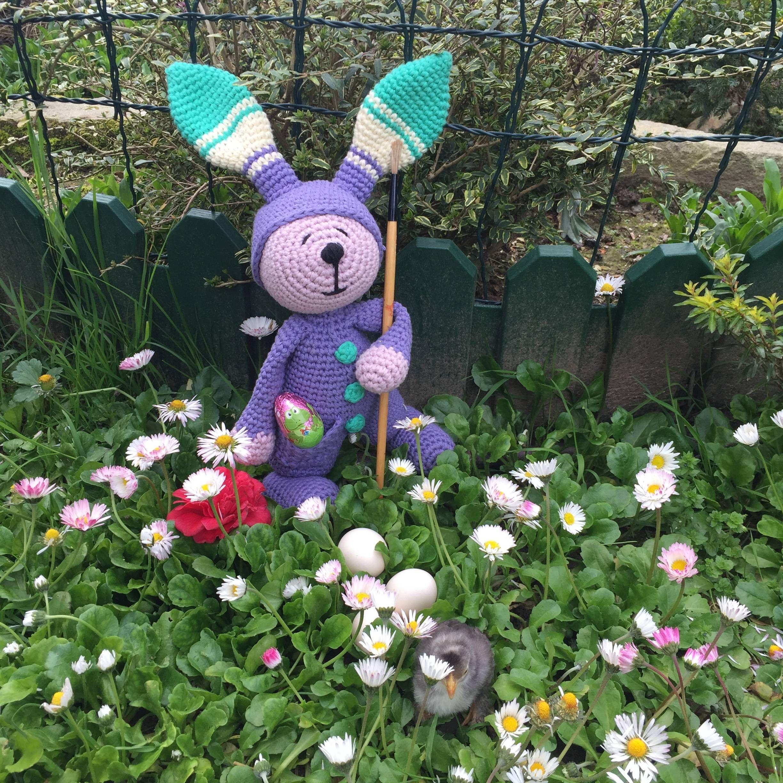 Patrón amigurumi gratis a crochet de conejito de pascua | Conejos ...
