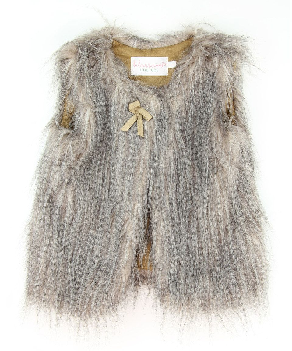 Another great find on #zulily! Gray Faux Fur Vest - Toddler & Girls by Blossom Couture #zulilyfinds