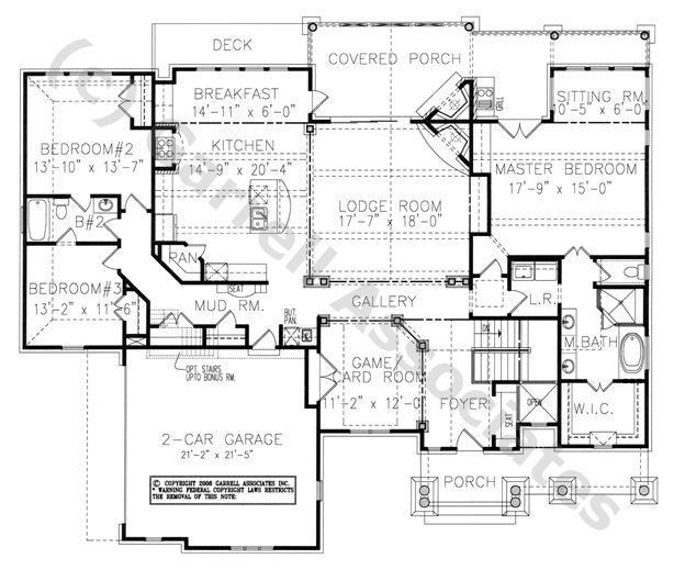 House plan 699 00016 lake front plan 2 451 square feet for Wheelchair accessible home plans