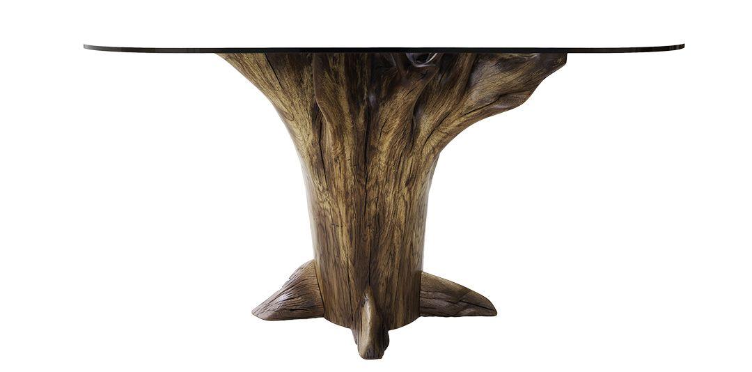 Chestnut Oak Chestnut Oak Glass Dinning Table Dining Table