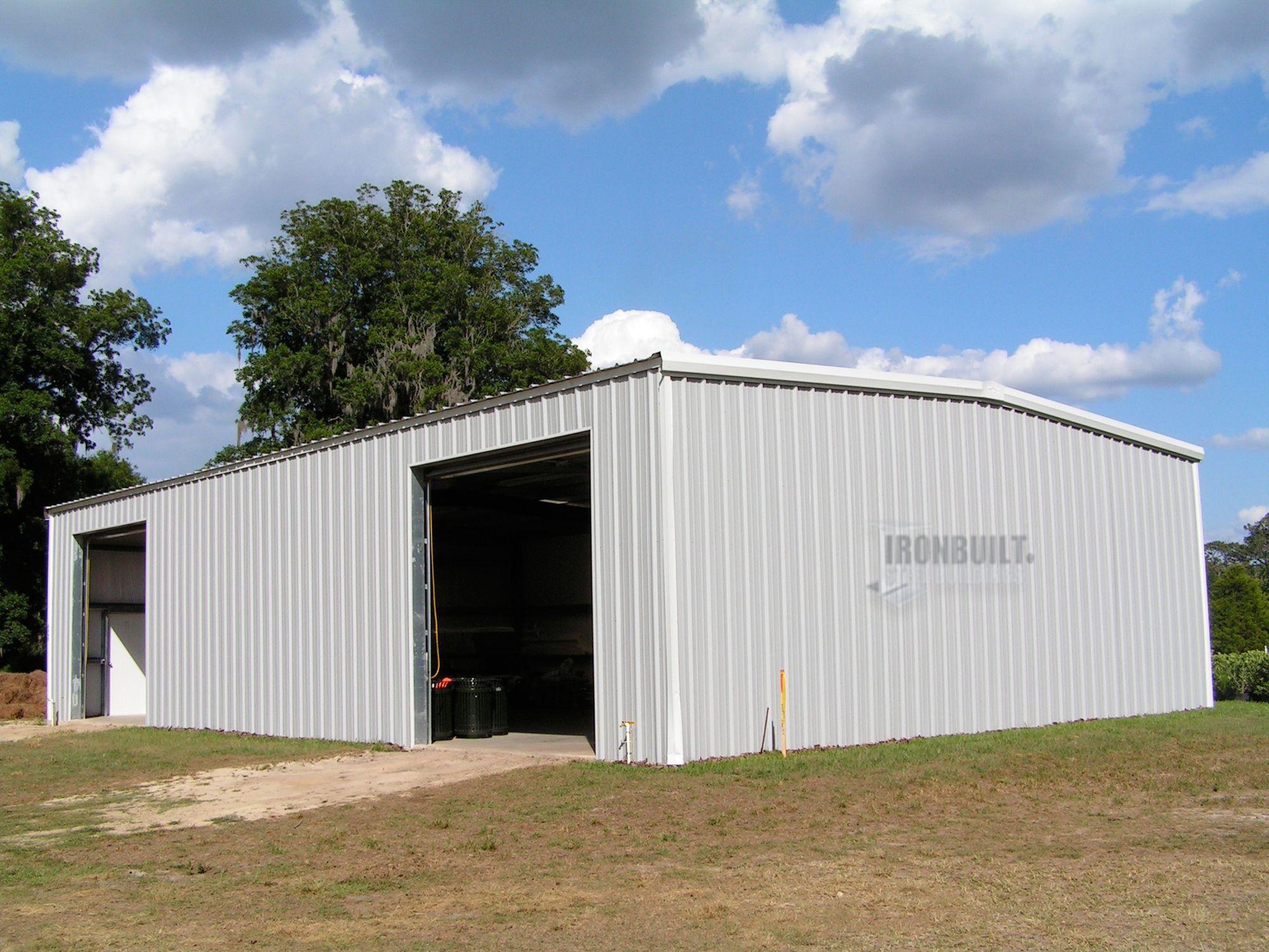 Prefab steel building kit in gray Steel buildings, Metal