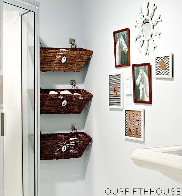 20 bathroom organization ideas via a blissful nest wicker basket vertical storage by our fifth