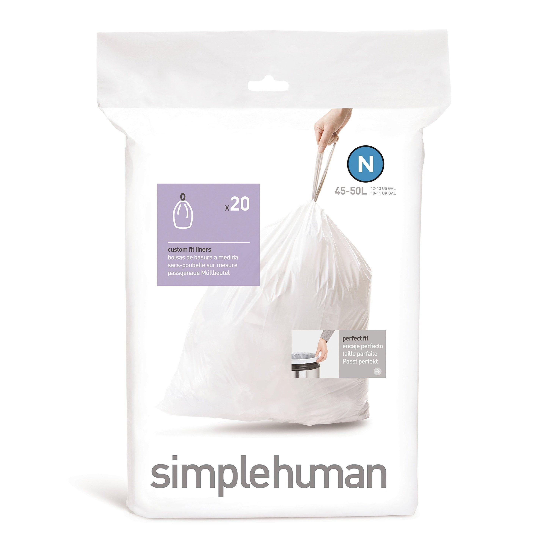 Sacs Poubelle 50 L Simple Human Plastique Blanc Simplehuman