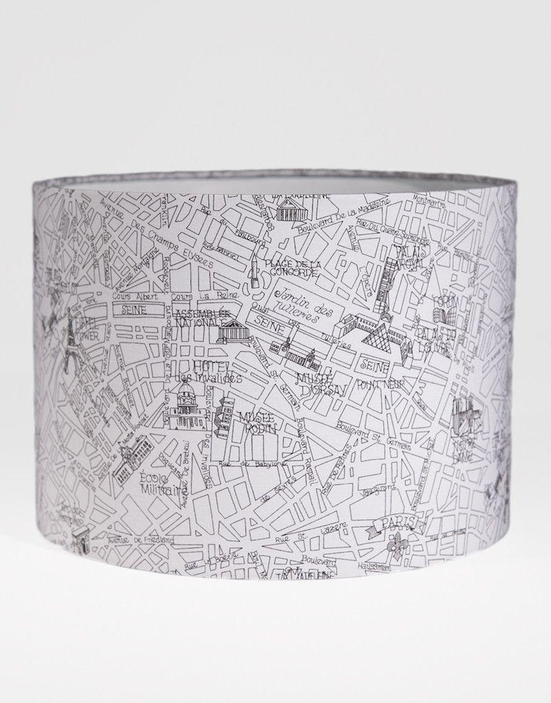 Charming Paris Lamp Shade Front $75