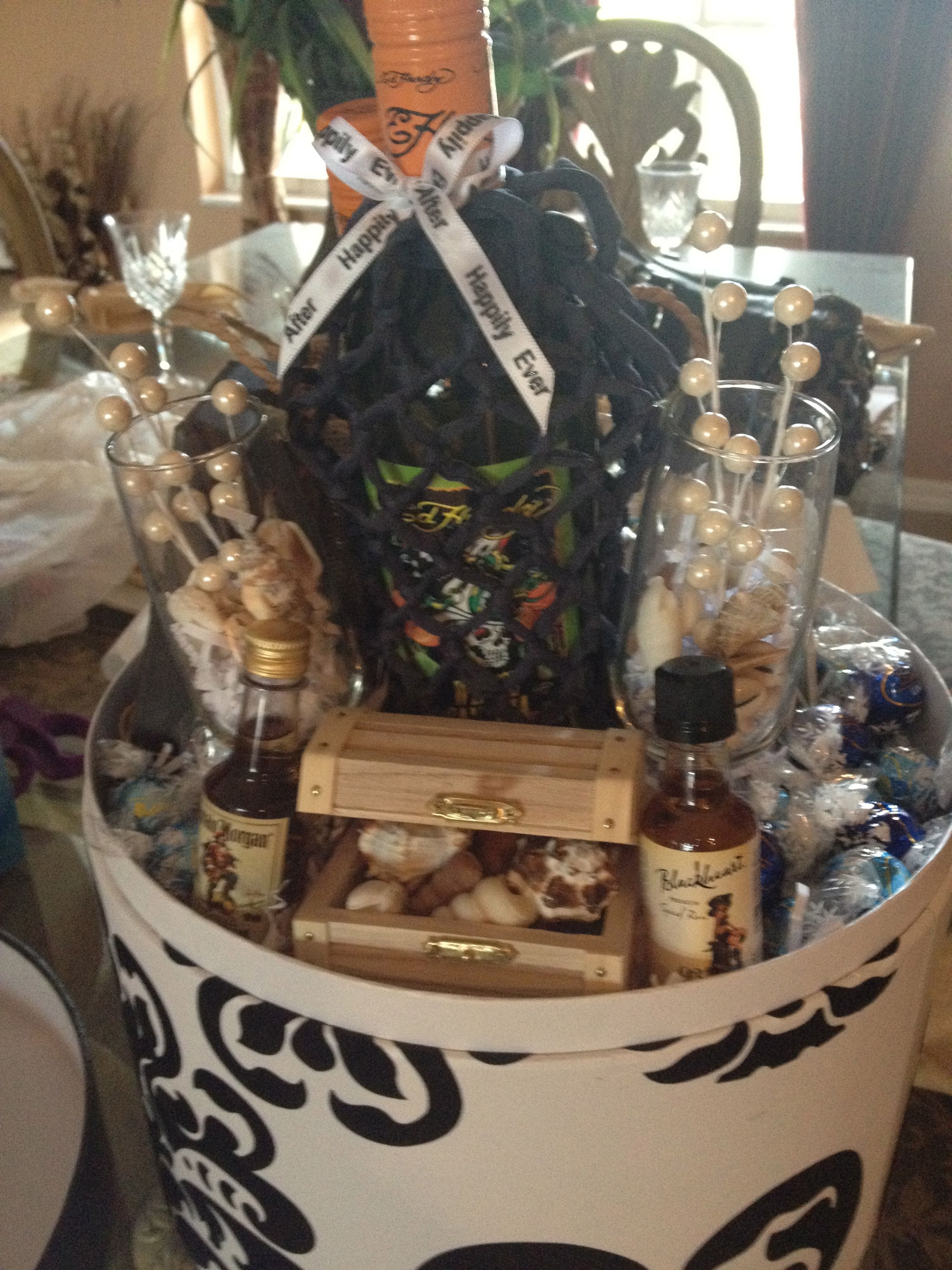 Beachpirate Themed Couple Basket My Creations Pinterest Gift