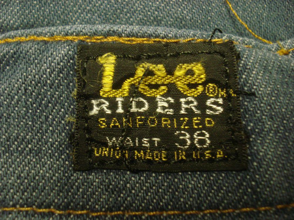 Details about VTG Mens Lee Riders Jeans Sanforized Size 36 X 28 ...