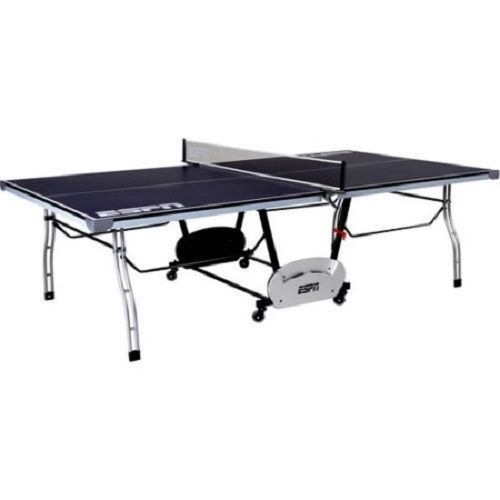 Indoor Outdoor Folding Compact Ping Pong Post Net Game Room Storage Tennis Table #Unbranded