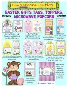 Easter gifts tags toppers and popcorn set students teaching easter gifts tags toppers and popcorn set negle Image collections