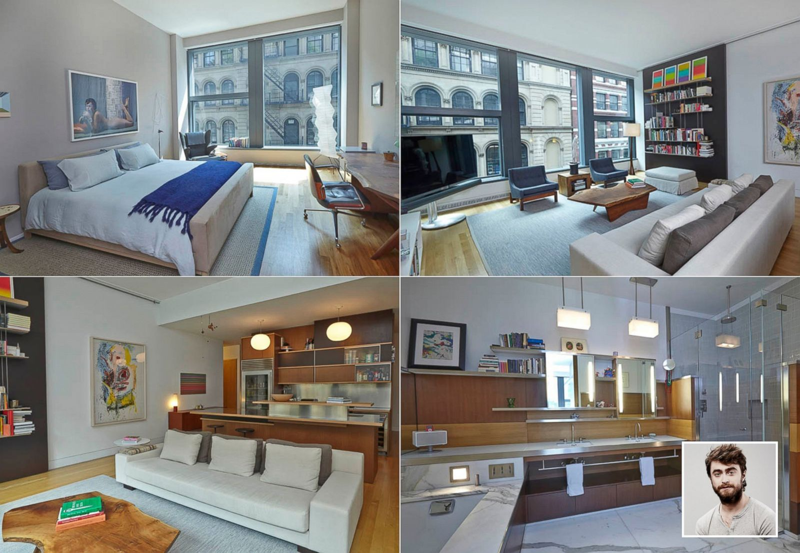 You Can Rent Daniel Radcliffe S New York Apartment For 19k Month Picture In Photos Celebrity Homes Abc News