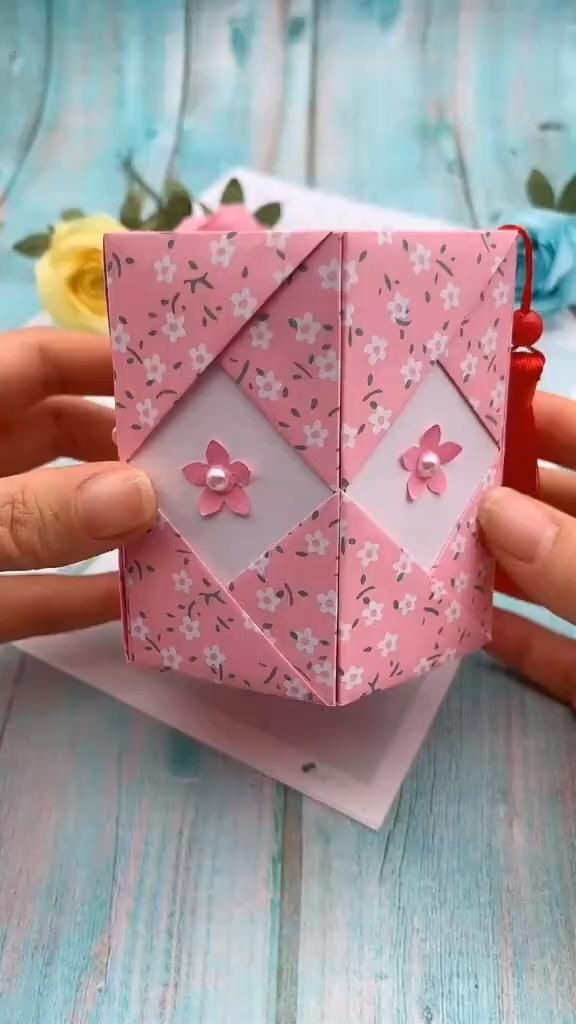 DIY Origami Paper Pen Holder