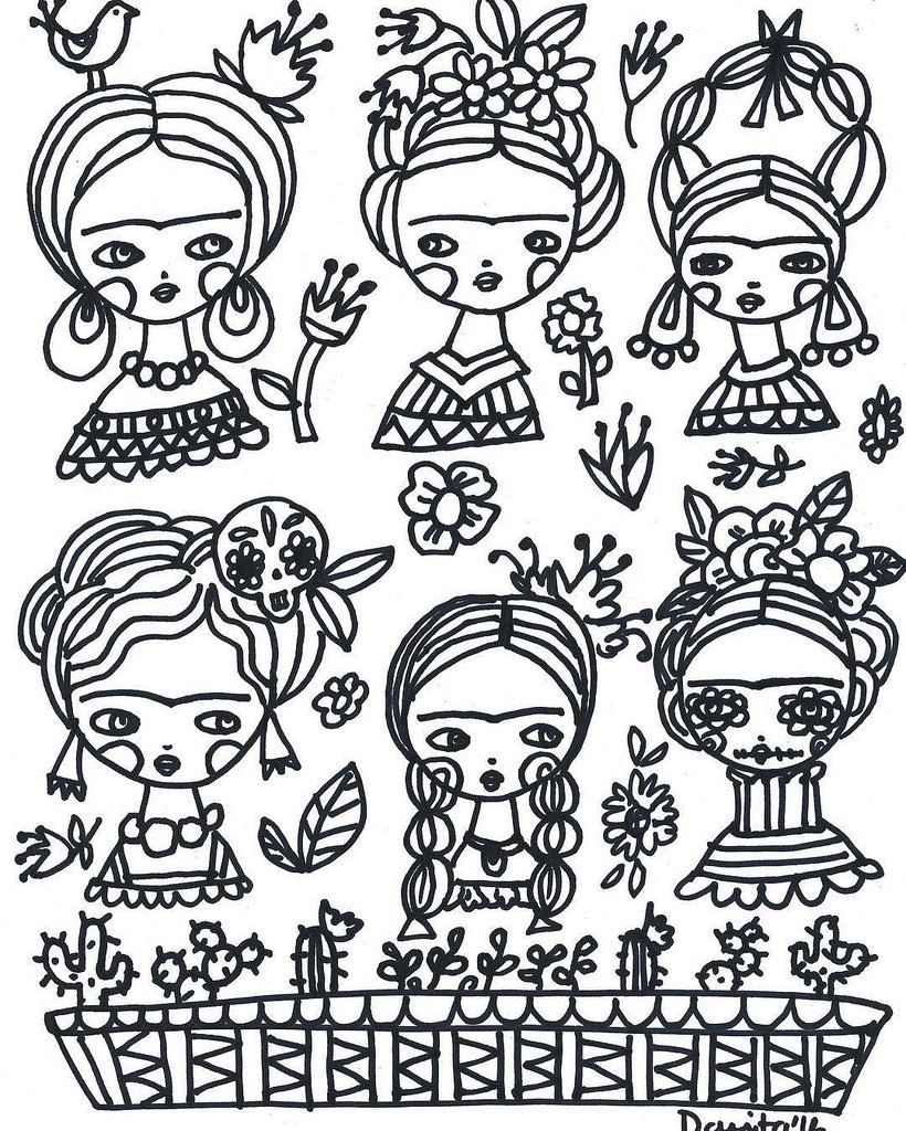 Color with #Frida and me! I have a free page for you to relax ...