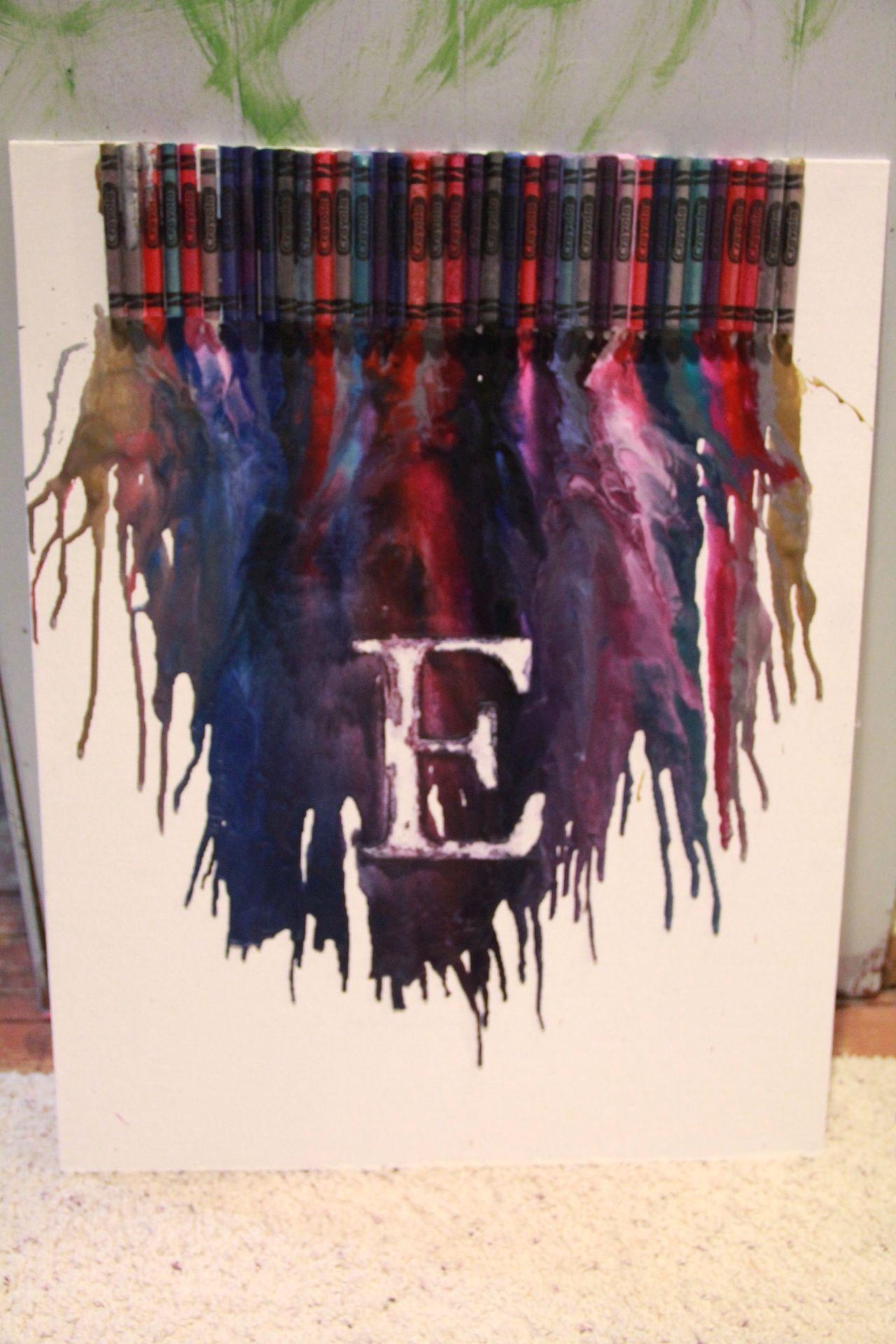 Crayon Art D Crayon art, Crafts, Diy crafts
