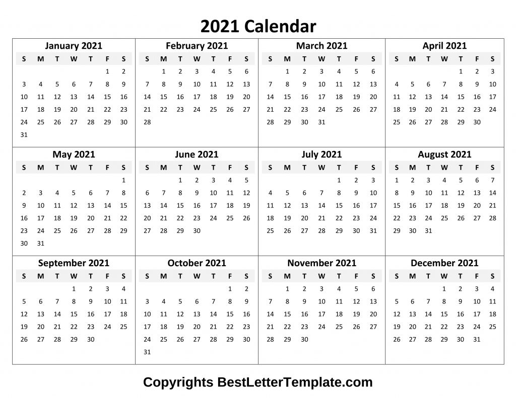 Calendar 2021 Tumblr Free In 2020 Annual Calendar Printable Yearly Calendar Template Printable Calendar Pdf