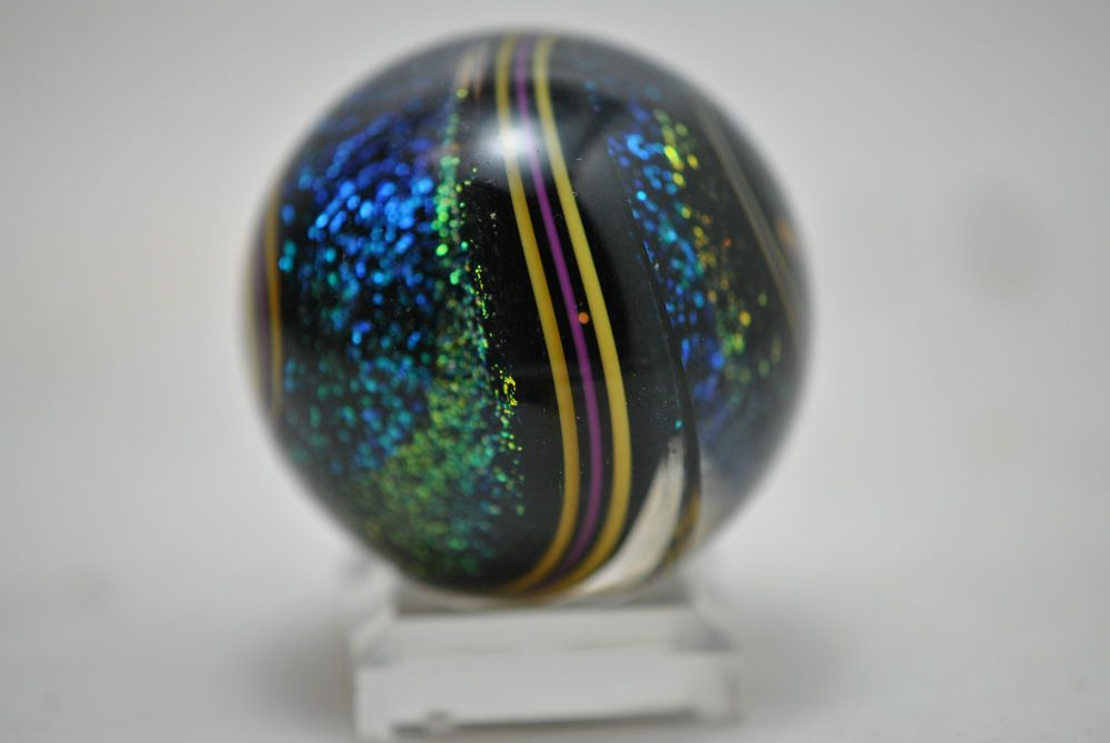 1 3 8 Geoffrey Beetem Stardust V Lobe Marble Marble Glass Marbles Crystal Art