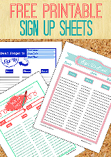 Nerdy image pertaining to free printable snack sign up sheet
