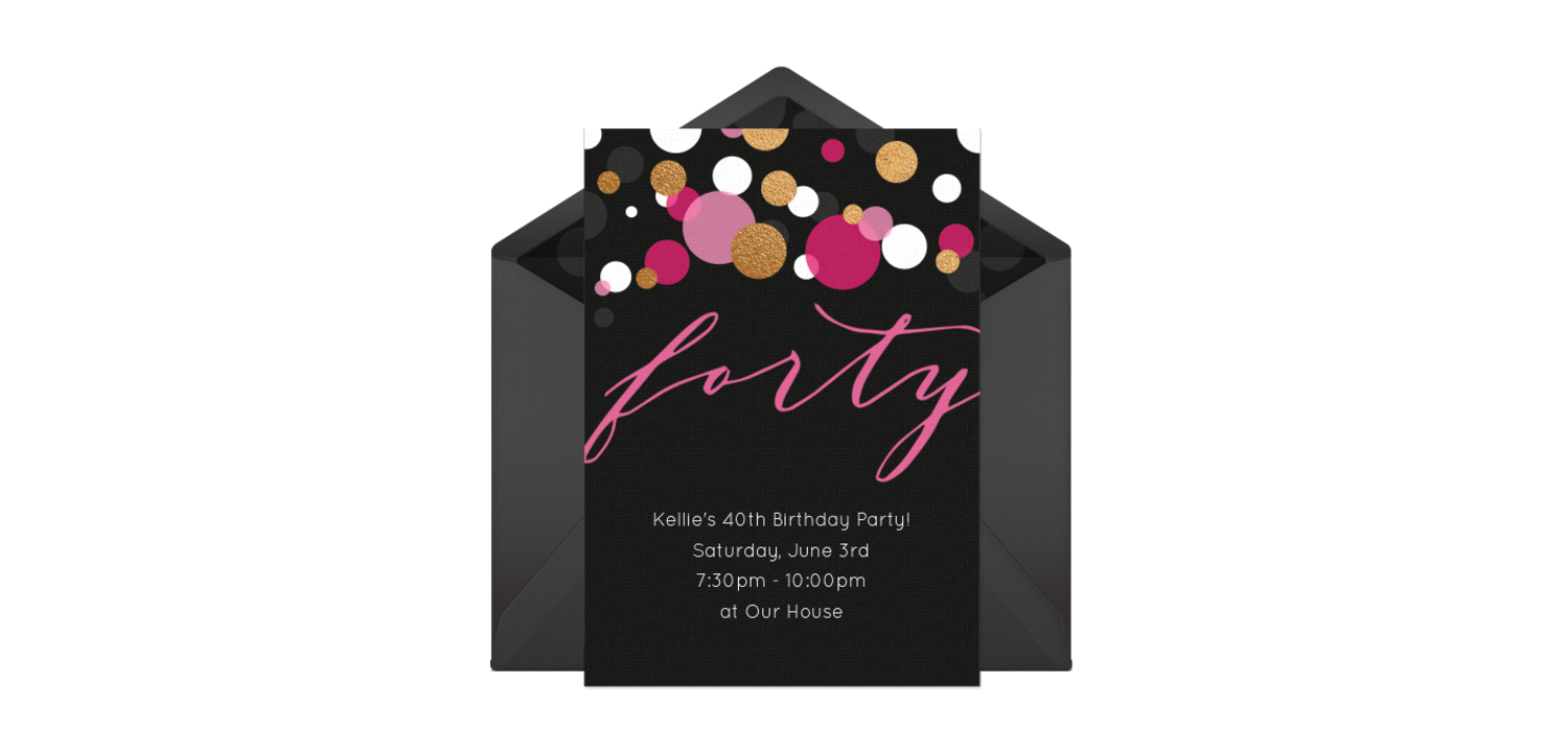 Free forty pink invitations party pinterest 40th birthday customizable free forty pink online invitations easy to personalize and send for a 40th birthday party punchbowl filmwisefo