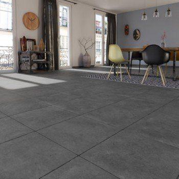Carrelage sol et mur anthracite effet pierre Monastère l50 x L50 - dalle beton interieur maison