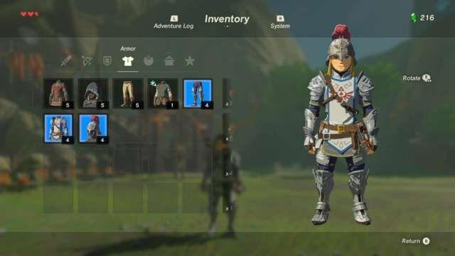armor upgrades zelda